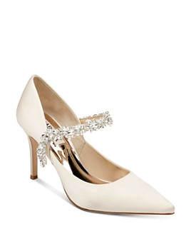 Badgley Mischka - Women's Esperanza Crystal-embellished Pumps