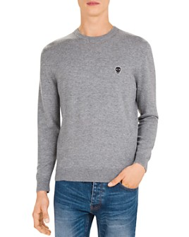 The Kooples - Skull Patch Wool & Cashmere Crewneck Sweater