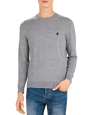 The Kooples Skull Patch Wool & Cashmere Crewneck Sweater