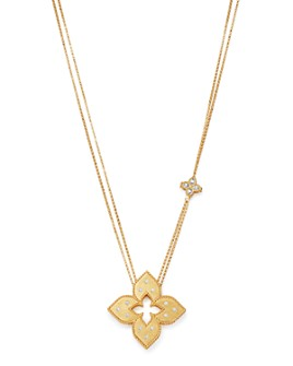 Roberto Coin - 18K Yellow Gold Venetian Princess Diamond Pendant Necklace, 30""