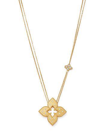 """Roberto Coin - 18K Yellow Gold Venetian Princess Diamond Pendant Necklace, 30"""""""