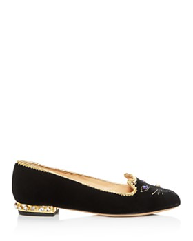 Charlotte Olympia - Women's Embellished Kitty Flats