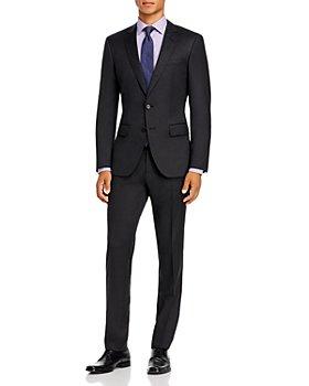 BOSS - Huge/Genius Wool Twill Slim Fit Suit