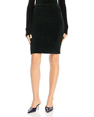 Helmut Lang Ribbed Velvet Mini Skirt