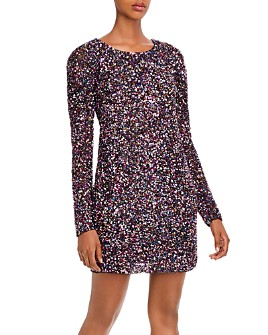 Parker - Exeter Open Back Sequin and Bead Dress