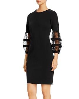 Calvin Klein - Lace-Sleeve Sheath Dress