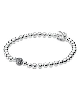 Pandora - Sterling Silver & Cubic Zirconia Beads & Pavé Bracelet