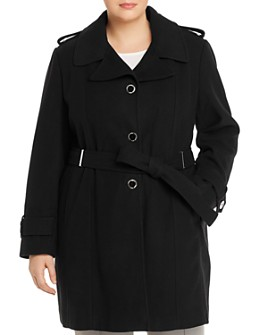 Calvin Klein Plus - Single-Breasted Trench Coat