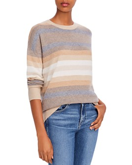 Theory - Striped Cashmere Sweater - 100% Exclusive
