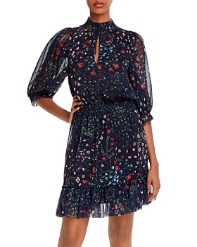Joie - Shima Floral-Print Ruffled Dress