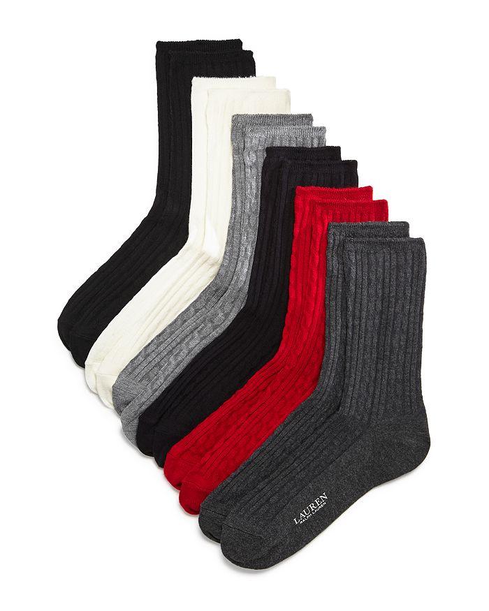 Ralph Lauren - Cable Texture Crew Socks, Set of 6