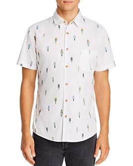 Sovereign Code - Short-Sleeve Ice Cream Print Slim Fit Shirt