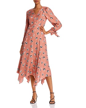 Rebecca Taylor - Paintbrush Tie-Detail Floral Dress