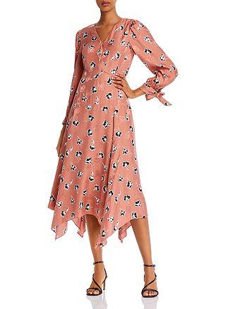 Rebecca Taylor - Paintbrush Tie-Detail Floral Dress