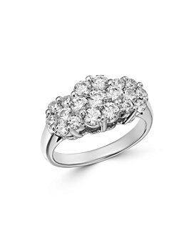 Bloomingdale's - Cluster Diamond Ring in 14K White Gold, 1.50 ct. t.w. - 100% Exclusive