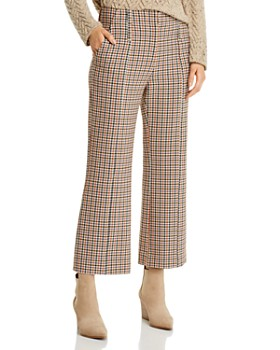 Tory Burch - Plaid Cropped Bootcut Pants
