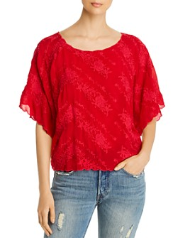 Johnny Was - Tierra Floral Embroidered Top
