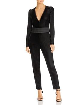 Rachel Zoe - Rafaele Long Sleeve Velvet Jumpsuit