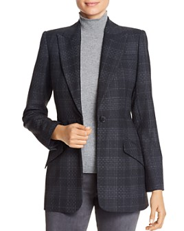 Elie Tahari - Madison Plaid Peak-Lapel Blazer