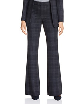 Elie Tahari - Anna Plaid Wide-Leg Pants