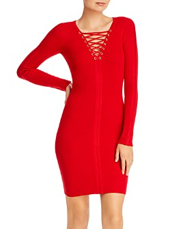 GUESS - Selby Lace-Up Body-Con Dress