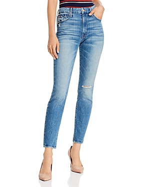 Mother The Looker High-Rise Ankle Skinny Jeans in Popism-Women