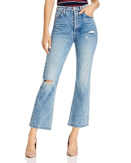 MOTHER - Tripper High-Rise Ankle Flared Jeans in 20 Minutes Of Fame