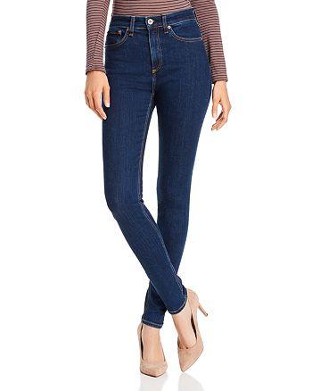 rag & bone - Nina High-Rise Skinny Jeans in Marine Blue