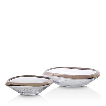 Mitchell Gold Bob Williams - Asymmetrical Glass Bowl Collection