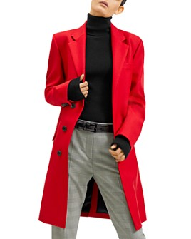 Barbara Bui - Concealed Front-Button Notch-Lapel Coat