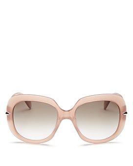 rag & bone - Women's Oversized Round Sunglasses, 55mm