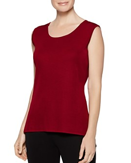 Misook - Classic Knit Scoop-Neck Tank