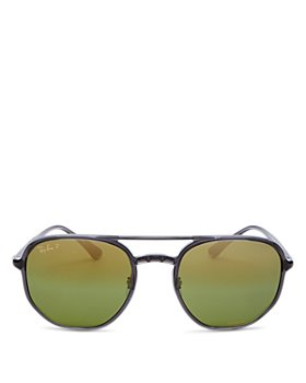 Ray-Ban - Men's Chromance Polarized Brow Bar Aviator Sunglasses, 53mm