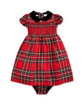 Ralph Lauren - Girls' Smocked Plaid Dress & Bloomers Set - Baby
