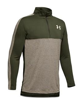 Under Armour - Boys' Color-Block Quarter-Zip Sweatshirt - Big Kid