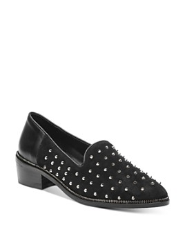 The Kooples - Women's Suede Studded Loafers