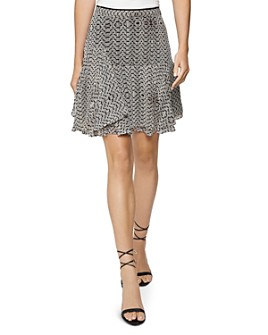 REISS - Margarita Asymmetric Printed Skirt