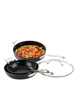 All-Clad - Essentials Nonstick 4-Piece Skillet Set