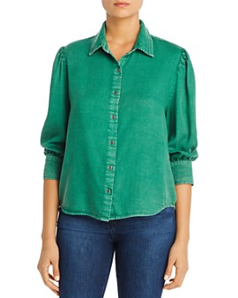 Billy T - Chambray Pleat-Shoulder Shirt