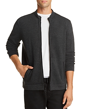 John Varvatos Knits DOUBLE-KNIT ZIP-UP SWEATER - 100% EXCLUSIVE