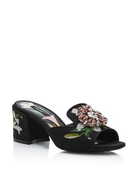 Dolce & Gabbana - Women's Low-Heel Slides