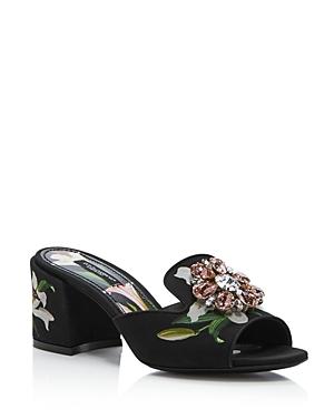 D & G Women's Low-Heel Slides