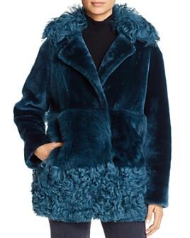 Nour Hammour - Anouk Real Sheep Shearling Coat