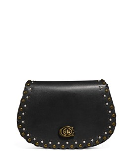 COACH - Rivet Detail Medium Leather Saddle Belt Bag