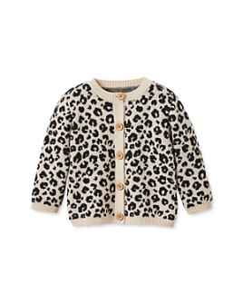 Elegant Baby - Girls' Leopard Jacquard Cardigan - Baby