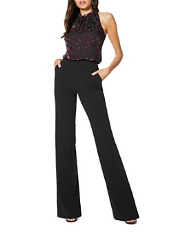 Ramy Brook - Sleeveless Velvet-Burnout Jumpsuit