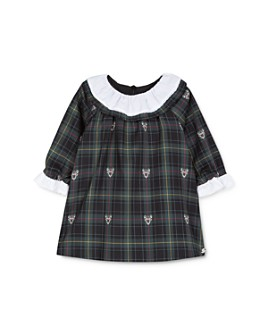 Tartine et Chocolat - Girls' Deer Print Plaid Dress - Baby