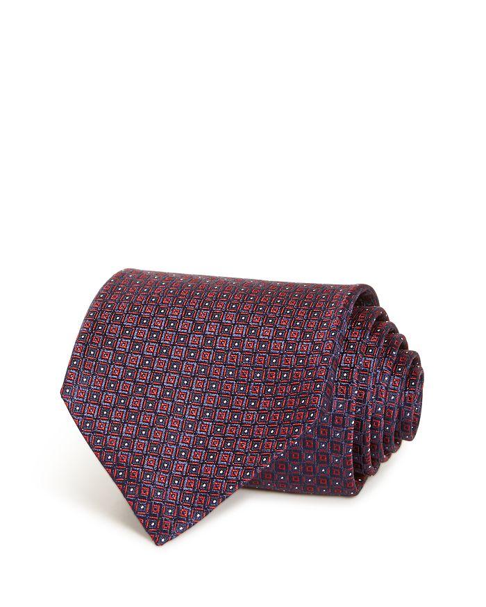 Ermenegildo Zegna - Embroidered Square Grid Silk Classic Tie