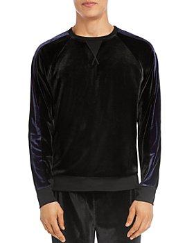 2(X)IST - Velour Color-Block Crewneck Sweatshirt
