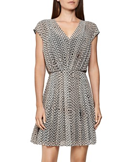 REISS - Marcy Bead Print Dress